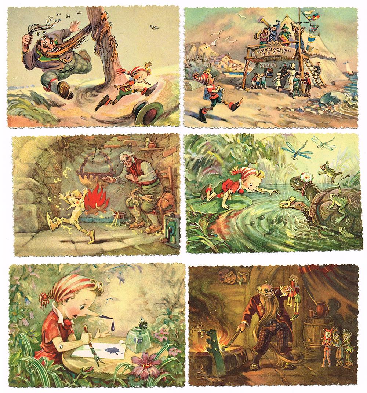 Набор открыток иллюстрации к сказкам, открытку яндекс почте