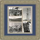 Нефтедобыча в Баку, панно с архивными фото, 1960 г.